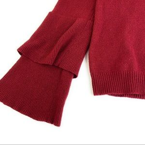 J. Crew Factory Sweaters - JCrew Tiered Ruffle Sleeve Sweater